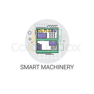 Smart Machinery Industrial Automation Industry Production Icon