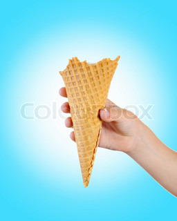 ice cream in the hands of the child