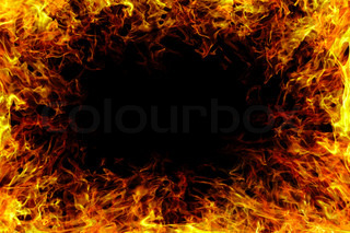 image of a Fire flame with smoke