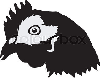 silhouette of hen