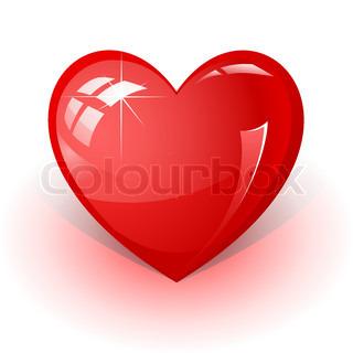 vektor 3d ikon af røde hjerte