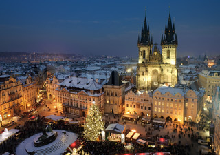 Christmas Prague view