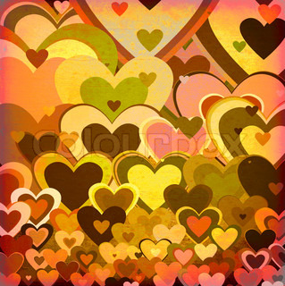 grunge love pattern background with some stains on it