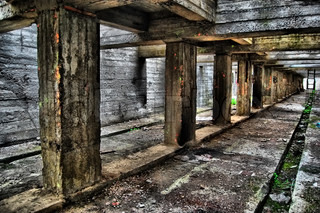 Industrial archeology. Abandoned bunker.Lost city.Near Chernobyl area