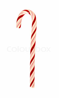 candy cane isolated on a white background for site