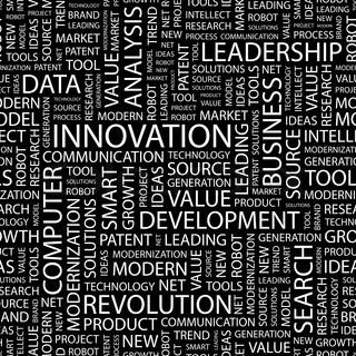 Vektor af 'innovation, uddannelse, ledelse'