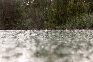Autumn, open window, rain, overflow, horizontal, splash, glass