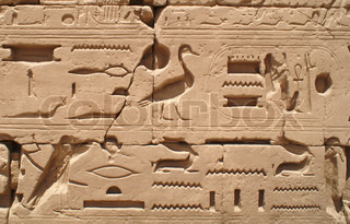 Egypt hieroglyphics in Luxor