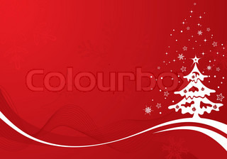 Christmas background with tree, element for design, vector illustration