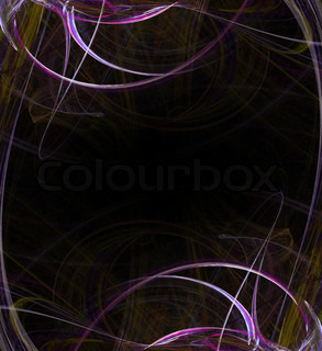 A creative fractal page layout with fractal art over black