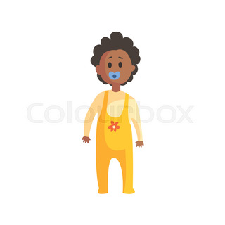 toddler in yellow clothing with dummy in mouth standingpart of family members series of - Toddler Cartoon Characters