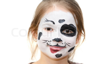 Girl with painted faces
