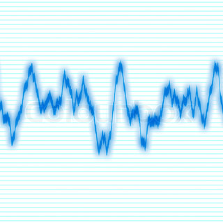 A blue audio waveform over a black backgroundIt also could be a heartrate monitor
