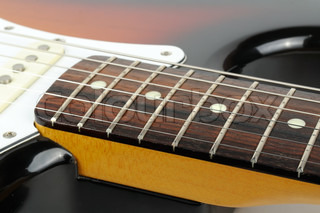 Lead Electric Guitar Strings Close-up