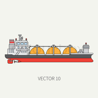 Gas tanker icon. Black silhouette illustration of Gas tanker vector