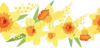 Problemfri vandret foråret grænsen med gule påskeliljer