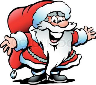 Håndtegnede Vektor illustration af en Santa Claus