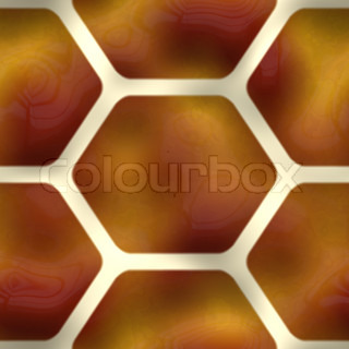 A brown seamless pattern with hexagon or honeycomb shapes