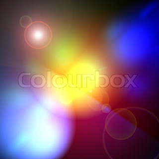 A color abstract lens flare background