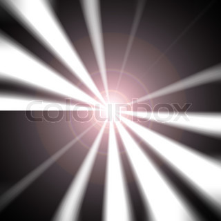 A black and white vortex with a lens flare right in the middle