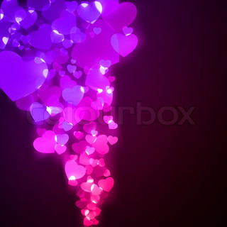 Flying hearts Valentine's day or Wedding EPS 8 vector file included