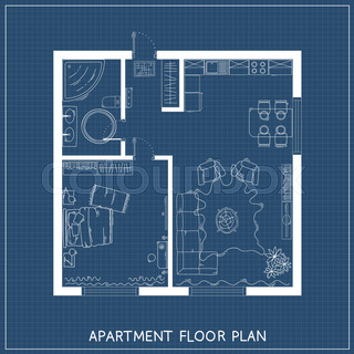 Set of linear icons for interior top view plans isolated vector architectural blueprint with furniture in top view malvernweather Images