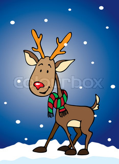 Rudolf the reindeer for your Xmas designs