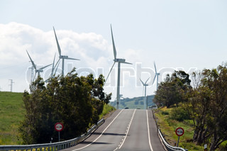 Wind -Turbinen zur Stromerzeugung in Andalusien, Spanien Alternativ-Energien