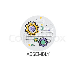 Assembly Machinery Industrial Automation Industry Production Icon