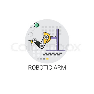 Smart Robotic Arm Machinery Industrial Automation Industry Production Icon