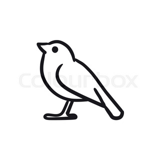 bird sketch icon