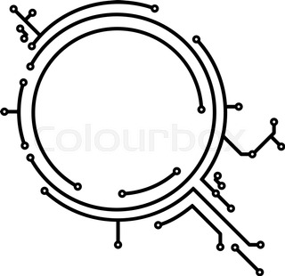 round frame in pcb layout style for stock vector colourbox Microsoft Design abstract round pcb style frame for your design