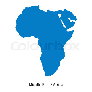 Abstract vector color map of Middle East country Stock Vector