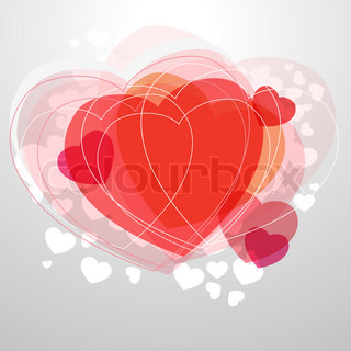 Red modern heart on light grey background