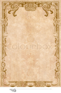 Victorian background with engraving frame