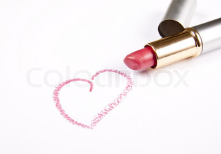 Lipstick and words I love you!