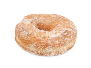 Zucker Donut isoliert auf weißem Hintergrund