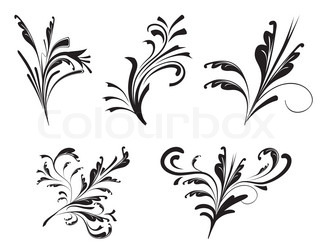 Collection of decorative elements for design Vector illustration