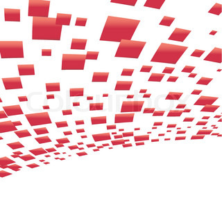 Vector background with red squares clip-art