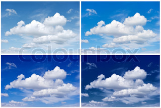 Four Seasons of Sky. Winter, Spring, Summer, Autumn