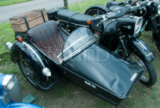 old motor with sidecar