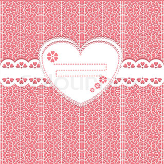 Vector lace frame background Scrap template with blank space for your photos or text