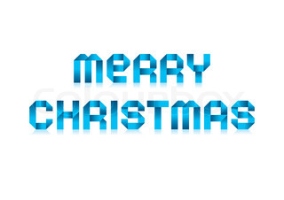 Merry Christmas - Paper Tape Font