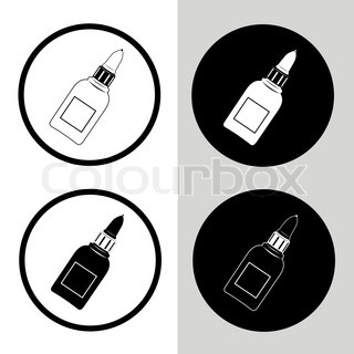 vector icon of glue bottle