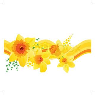 Vektor af 'påskelilje, clipart, påskeliljer'