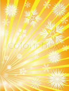 Golden Feuerwerk von Schneeflocken