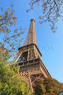 Vertical oriented image of famous Eiffel Tower in Paris, France