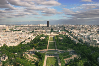 Aerial view on Paris from Eiffel Tower