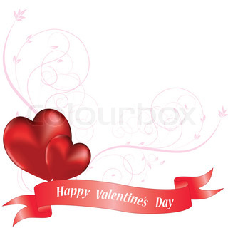 Ornamental heart background for valentine's day Vector illustration