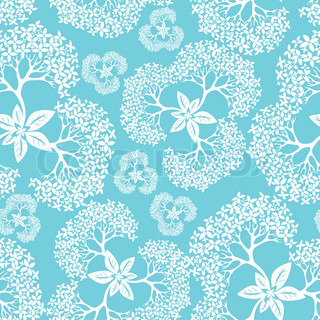 Flower mønster sømløs baggrund med hortensia , element for design, vektor illustration